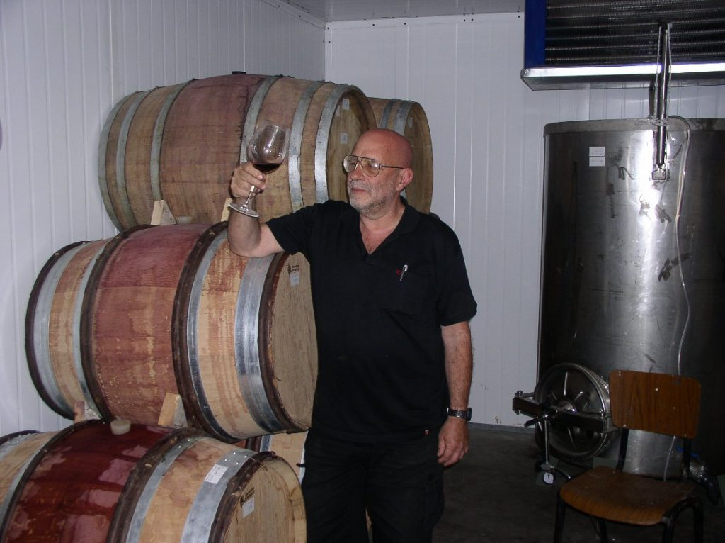 Gadi Sternbach in the winery